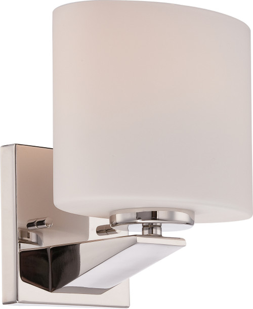 NUVO Lighting 60/5171 Breeze 1 Light Vanity Fixture with Etched Opal Glass