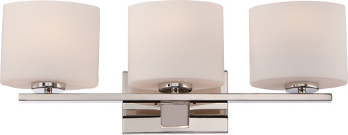 NUVO Lighting 60/5173 Breeze 3 Light Vanity Fixture with Etched Opal Glass