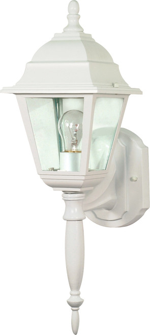 """NUVO Lighting 60/540 Briton 1 Light 18"""" Wall Lantern with Clear Seeded Glass"""