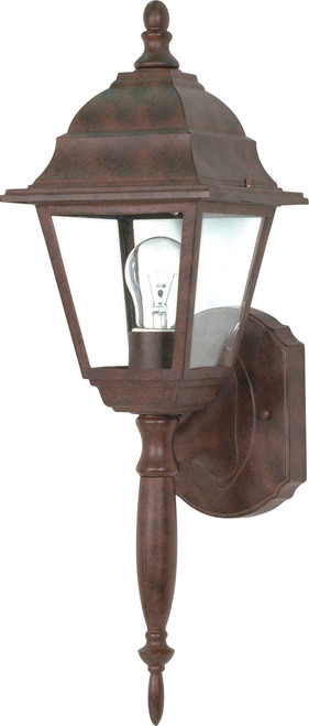 """NUVO Lighting 60/541 Briton 1 Light 18"""" Wall Lantern with Clear Seeded Glass"""