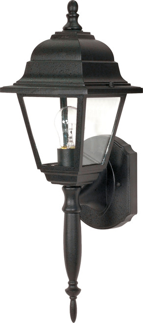"""NUVO Lighting 60/542 Briton 1 Light 18"""" Wall Lantern with Clear Seeded Glass"""