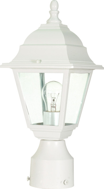 """NUVO Lighting 60/546 Briton 1 Light 14"""" Post Lantern with Clear Glass"""