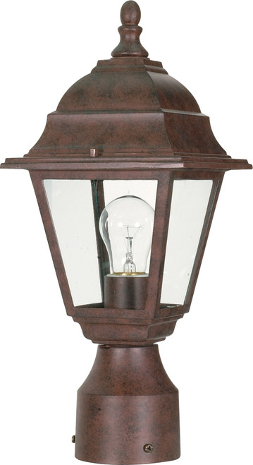 """NUVO Lighting 60/547 Briton 1 Light 14"""" Post Lantern with Clear Glass"""