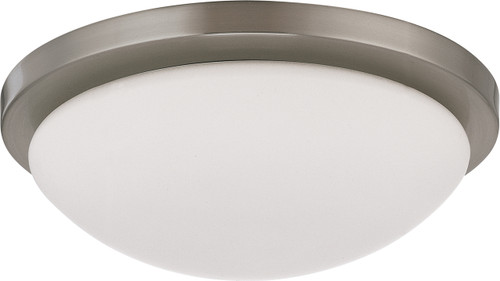 """NUVO Lighting 60/2941 Button ES 1 Light 11"""" 18W GU24 (Included) Flushmount Dome with White Glass"""