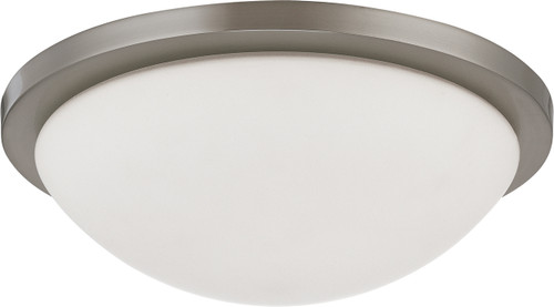 """NUVO Lighting 60/2944 Button ES 2 Light 13"""" 13W GU24 (Included) Flushmount Dome with White Glass"""