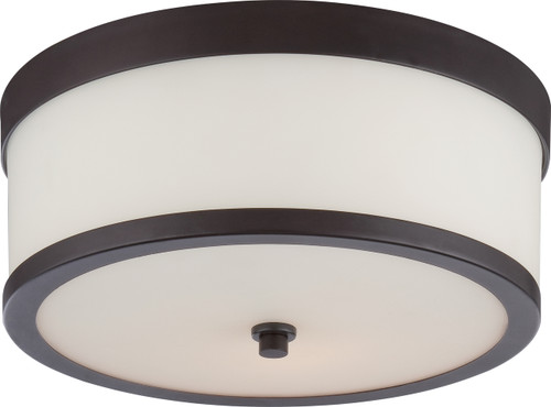 NUVO Lighting 60/5576 Celine 2 Light Flushmount Fixture with Etched Opal Glass