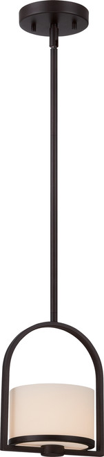 NUVO Lighting 60/5578 Celine 1 Light Mini Pendant with Etched Opal Glass
