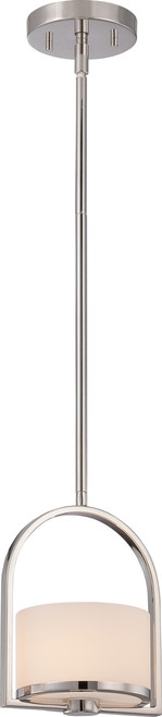 NUVO Lighting 60/5478 Celine 1 Light Mini Pendant with Etched Opal Glass