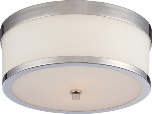 NUVO Lighting 60/5476 Celine 2 Light Flushmount Fixture with Etched Opal Glass