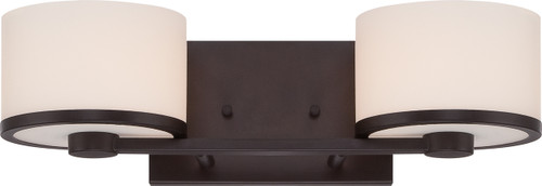 NUVO Lighting 60/5572 Celine 2 Light Vanity Fixture with Etched Opal Glass