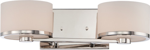 NUVO Lighting 60/5472 Celine 2 Light Vanity Fixture with Etched Opal Glass