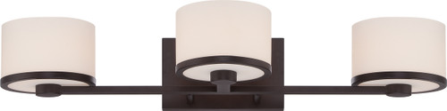 NUVO Lighting 60/5573 Celine 3 Light Vanity Fixture with Etched Opal Glass