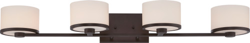 NUVO Lighting 60/5574 Celine 4 Light Vanity Fixture with Etched Opal Glass