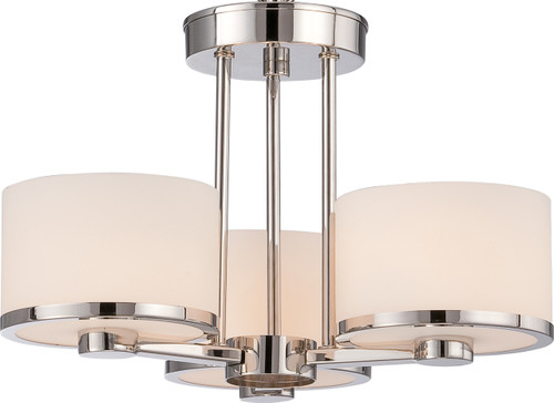 NUVO Lighting 60/5477 Celine 3 Light Semi Flushmount with Etched Opal Glass