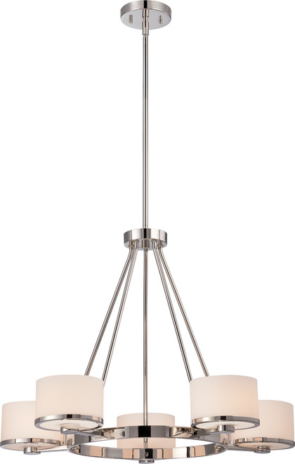 NUVO Lighting 60/5475 Celine 5 Light Chandelier with Etched Opal Glass