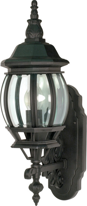 """NUVO Lighting 60/887 Central Park 1 Light 20"""" Wall Lantern with Clear Beveled Glass"""