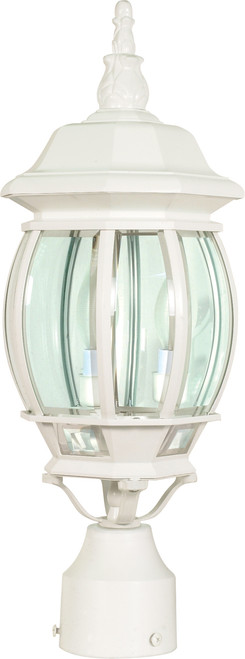 """NUVO Lighting 60/897 Central Park 3 Light 21"""" Post Lantern with Clear Beveled Glass"""