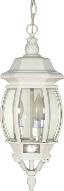 """NUVO Lighting 60/894 Central Park 3 Light 20"""" Hanging Lantern with Clear Beveled Glass"""