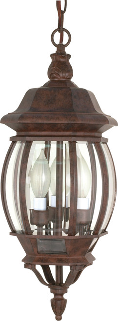 """NUVO Lighting 60/895 Central Park 3 Light 20"""" Hanging Lantern with Clear Beveled Glass"""