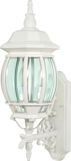 """NUVO Lighting 60/888 Central Park 3 Light 22"""" Wall Lantern with Clear Beveled Glass"""