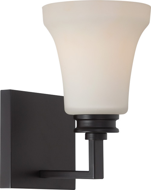 NUVO Lighting 62/436 Cody 1 Light Vanity Fixture with Satin White Glass (LED Omni Bulb Included)