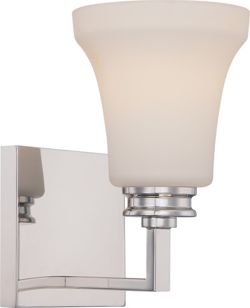 NUVO Lighting 62/426 Cody 1 Light Vanity Fixture with Satin White Glass (LED Omni Bulb Included)