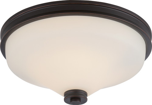 NUVO Lighting 62/433 Cody 2 Light Flushmount Fixture with Satin White Glass (LED Omni Bulbs Included)