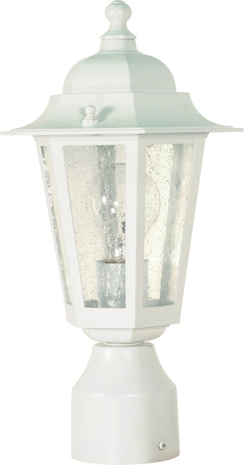 """NUVO Lighting 60/994 Cornerstone 1 Light 14"""" Post Lantern with Clear Seeded Glass"""