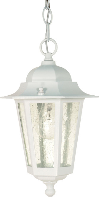 """NUVO Lighting 60/991 Cornerstone 1 Light 13"""" Hanging Lantern with Clear Seeded Glass"""