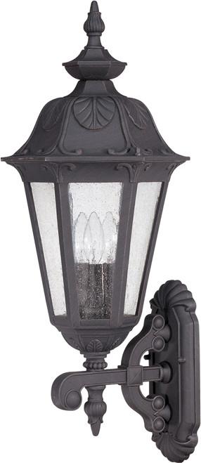 "60-989 Nuvo Cornerstone 1 Light 13/"" Wall Lantern w// Clear Seed Glass"
