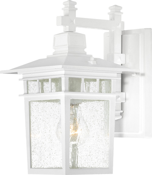 """NUVO Lighting 60/4951 Cove Neck 1 Light 12"""" Outdoor Lantern with Clear Seeded Glass"""