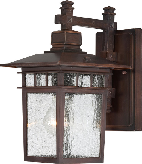 """NUVO Lighting 60/4952 Cove Neck 1 Light 12"""" Outdoor Lantern with Clear Seeded Glass"""