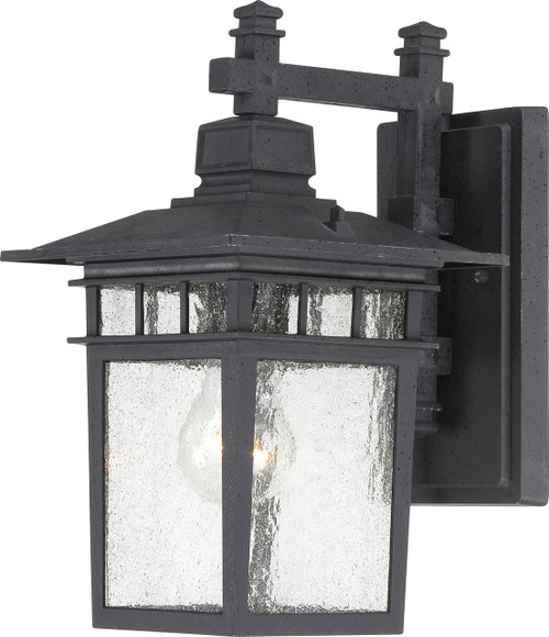 """NUVO Lighting 60/4953 Cove Neck 1 Light 12"""" Outdoor Lantern with Clear Seeded Glass"""