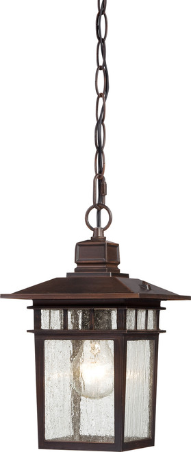 """NUVO Lighting 60/4955 Cove Neck 1 Light 12"""" Outdoor Hang with Clear Seeded Glass"""
