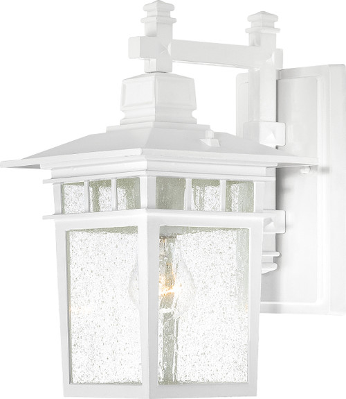 """NUVO Lighting 60/4957 Cove Neck 1 Light 14"""" Outdoor Lantern with Clear Seeded Glass"""