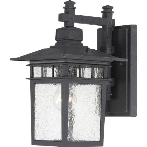 """NUVO Lighting 60/4959 Cove Neck 1 Light 14"""" Outdoor Lantern with Clear Seeded Glass"""