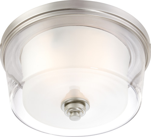 NUVO Lighting 60/4652 Decker 3 Light Large Flushmount Fixture with Clear & Frosted Glass