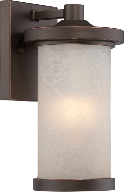 NUVO Lighting 62/641 Diego LED Outdoor Small Wall with Satin Amber Glass