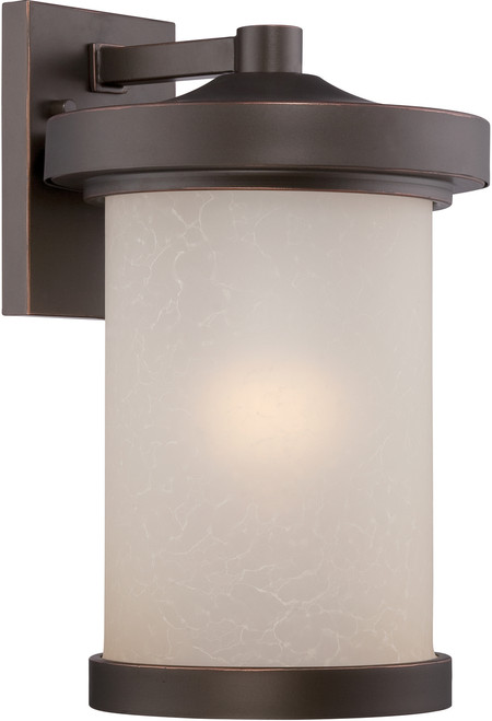 NUVO Lighting 62/642 Diego LED Outdoor Large Wall with Satin Amber Glass