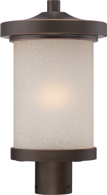 NUVO Lighting 62/644 Diego LED Outdoor Post with Satin Amber Glass