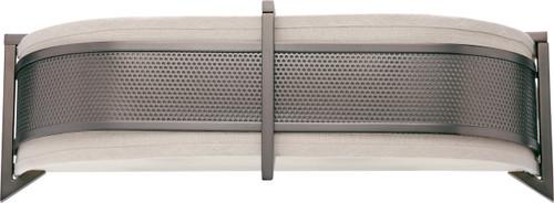 NUVO Lighting 60/4438 Diesel 3 Light Horizontal Sconce with Khaki Fabric Shade