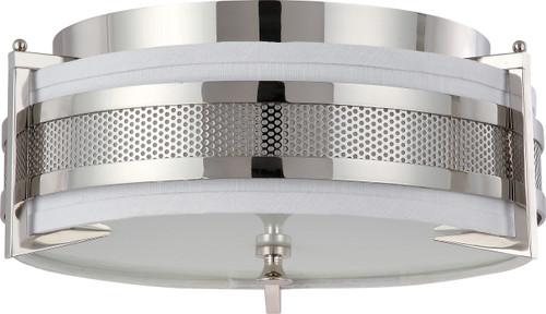 NUVO Lighting 60/4446 Diesel 3 Light Medium Flushmount with Slate Gray Fabric Shade
