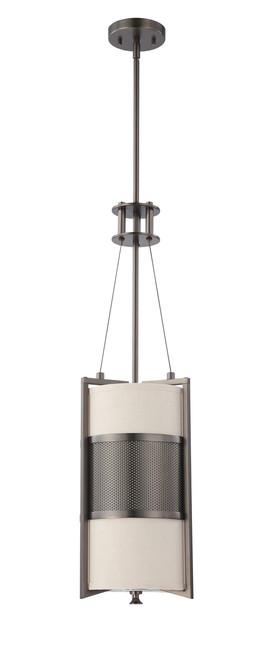 NUVO Lighting 60/4431 Diesel 1 Light Vertical Pendant with Khaki Fabric Shade