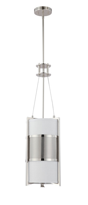 NUVO Lighting 60/4441 Diesel 1 Light Vertical Pendant with Slate Gray Fabric Shade
