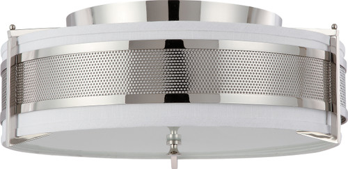 NUVO Lighting 60/4447 Diesel 4 Light Large Flushmount with Slate Gray Fabric Shade