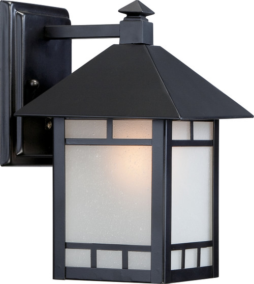 """NUVO Lighting 60/5601 Drexel 1 Light 7"""" Outdoor Wall Fixture with Frosted Seeded Glass"""