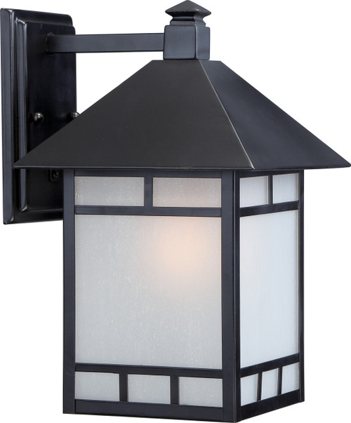 """NUVO Lighting 60/5602 Drexel 1 Light 9"""" Outdoor Wall Fixture with Frosted Seeded Glass"""