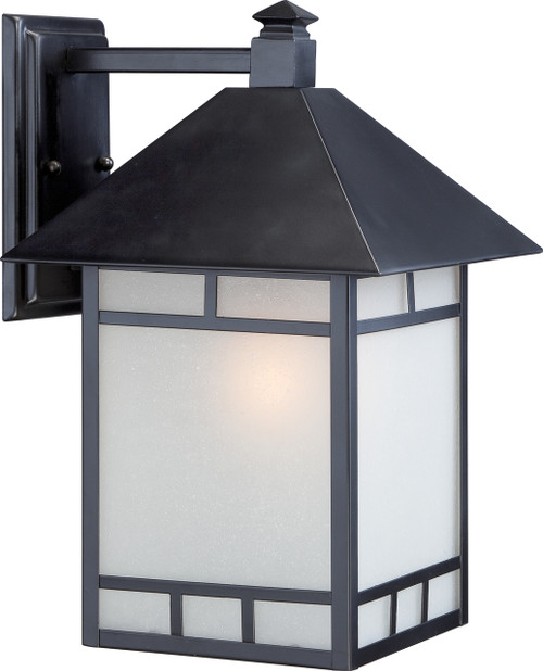 """NUVO Lighting 60/5603 Drexel 1 Light 10"""" Outdoor Wall Fixture with Frosted Seeded Glass"""