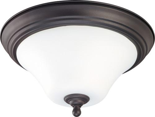"NUVO Lighting 60/1844 Dupont 1 light 11"" Flushmount with Satin White Glass"