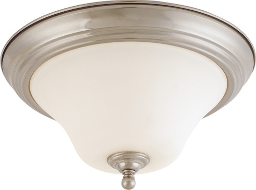 "NUVO Lighting 60/1825 Dupont 2 light 13"" Flushmount with Satin White Glass"